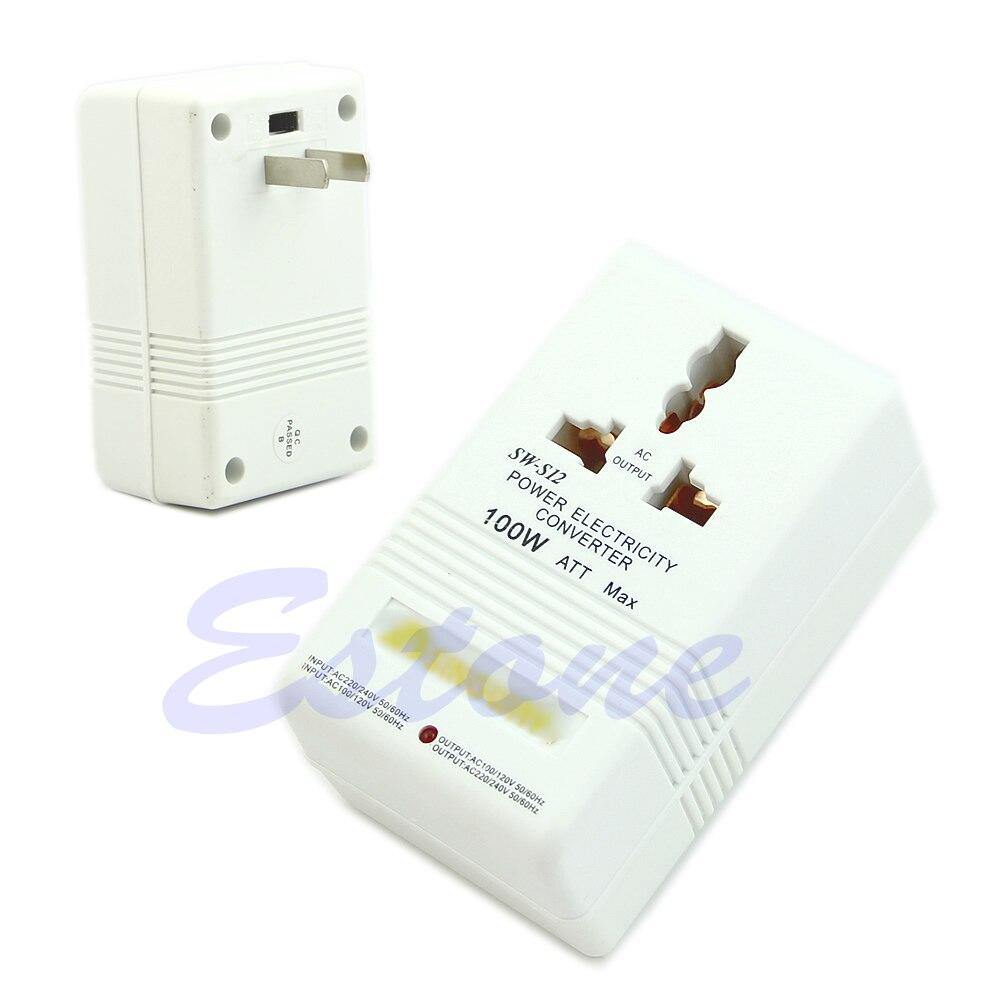 Professional Power Voltage Converter 220/240V To 110/120V Adapter G08 Great Value April 4 professional 220 240v to 110 120v power voltage electricity adapter converter