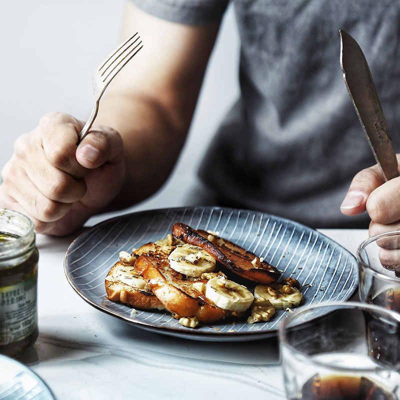 Nimitimeセラミックディナープレート皿磁器北欧食器スナック食品ディナープレート