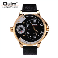 Oulm HP3706 Mens Watches Top Brand Luxury Sport  Man Gold  Watch Mens Quartzs Wristwatches