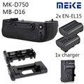 MEIKE MK-D750 батарейный блок сменный MB-D16 + EN-EL15 аккумулятор + зарядное устройство для Nikon D750 DSLR камеры