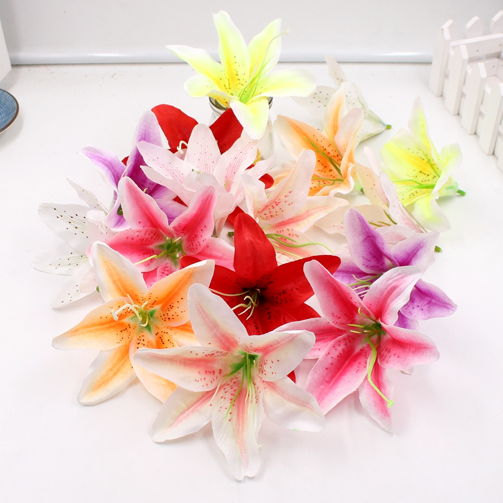 1pcs 12cm silk gradually orchid artificial flowers wedding for Decorative flowers for crafts