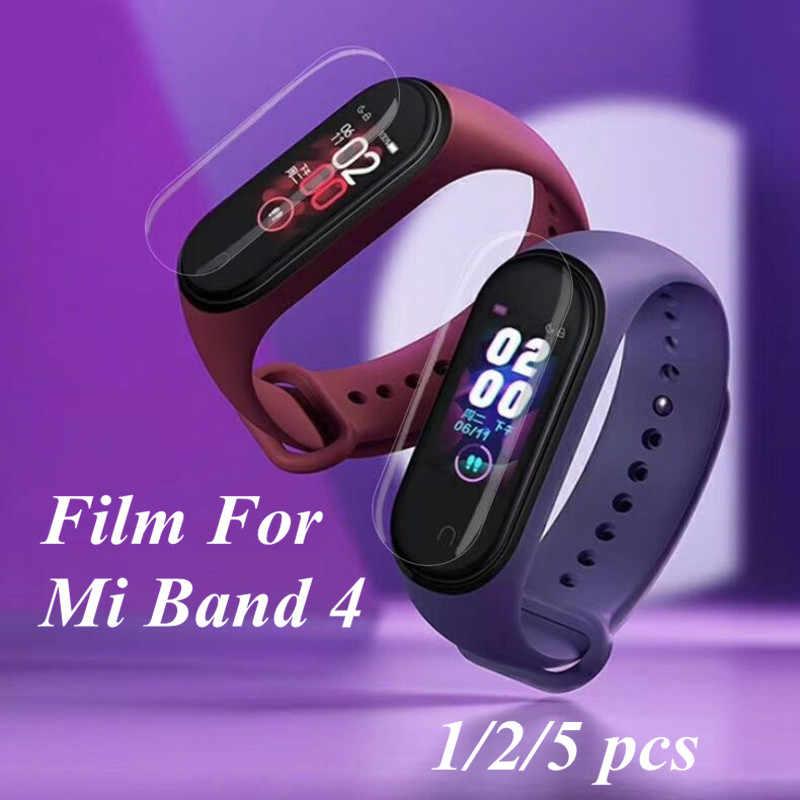 Mi band 4 5pcs 2pcs 1pc מסך סרט מגן סרט מגן עבור שיאו mi mi band 4 אנטי שריטה mi band4 צמיד mi band 4