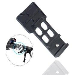 Para Gopro 3/3 +/4 abrazadera de conexión de riel de guía 20mm Cámara Weaver Gun Rail montaje accesorios para Cámaras Deportivas