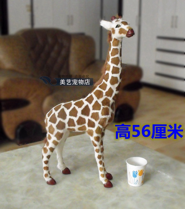 simulation giraffe model,polyethylene&fur large 30x10x56cm handicraft toy,prop, home decoration Xmas gift b3758 christmas elk snowflake print drawstring hoodie