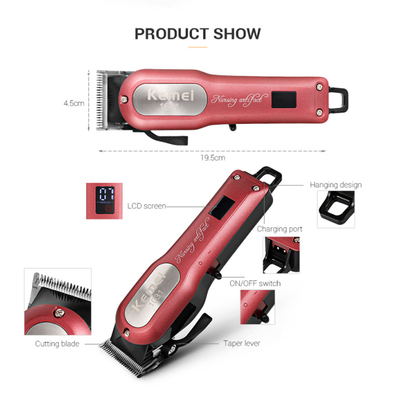 Professional Electric Hair Clippers Cordless Rechargeable Hair Cutter With 4 Limit Combs Quick Charging Hair Trimmer free shipping kemei professional precision cordless hair clipper for men hair cutter with 7 pcs limit combs and 2 batteries