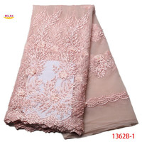 African Lace Fabric 2017 High Quality Lace African Tulle Lace Fabric 2017 Embroidered Pearl Lace Fabric