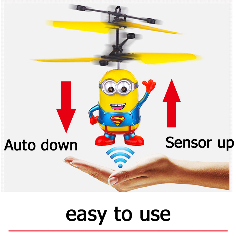 Flying Minions Kawaii RC Helicopters Toys for children Sensory Helikopter Hot Kids Toys Free shipping Christmas gift