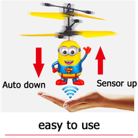 HOT Minions RC Helicopter Toys For Children Helikopter Sensory Switch Kids Toys