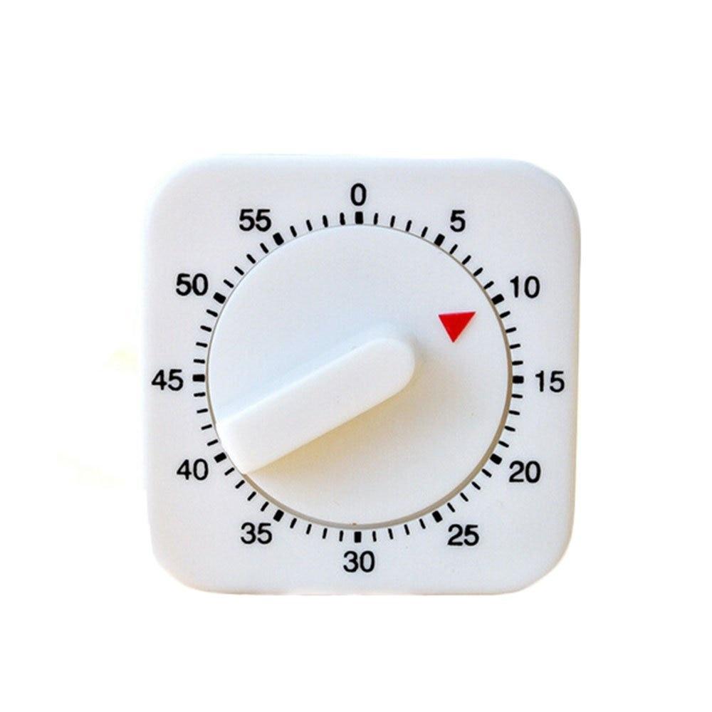 Kitchen Timer White Plastic Reminder Mechanical Timer 60 Minutes Timer