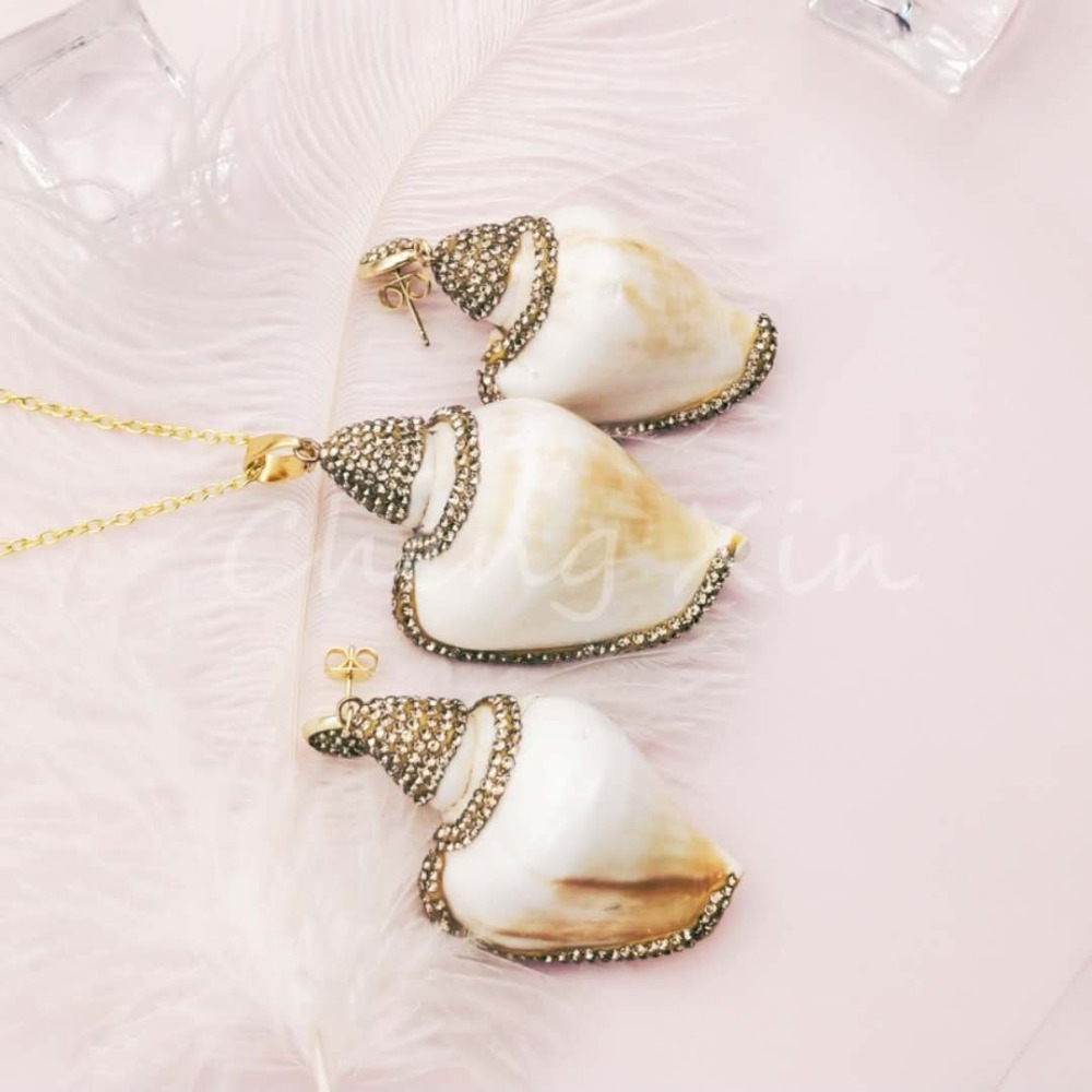 2019 fashion shell style design earrings style beautiful ladies jewelry first choice good thing in Jewelry Sets from Jewelry Accessories