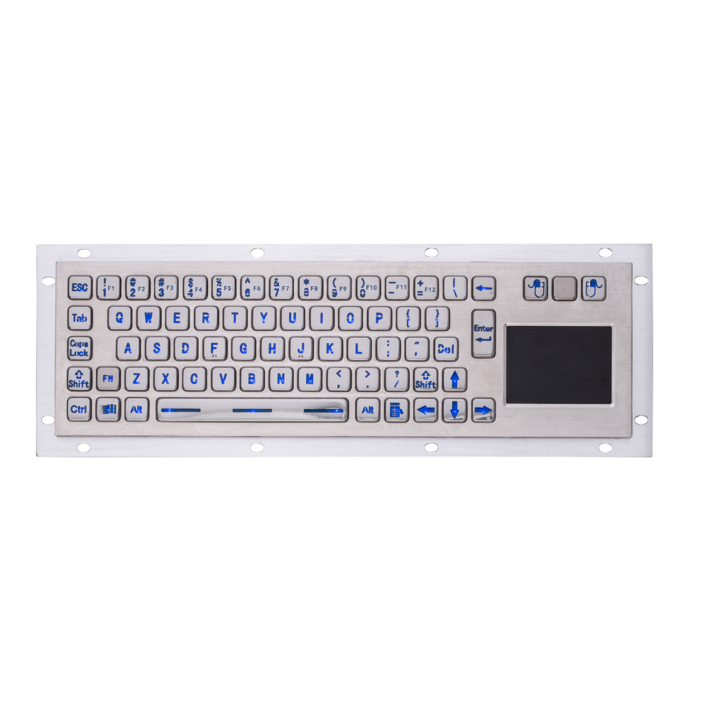 Backlit IP65 Stainless Steel USB Kiosk Keyboard With Touchpad Metal Industrial Keypad For Ticket Vending Machine