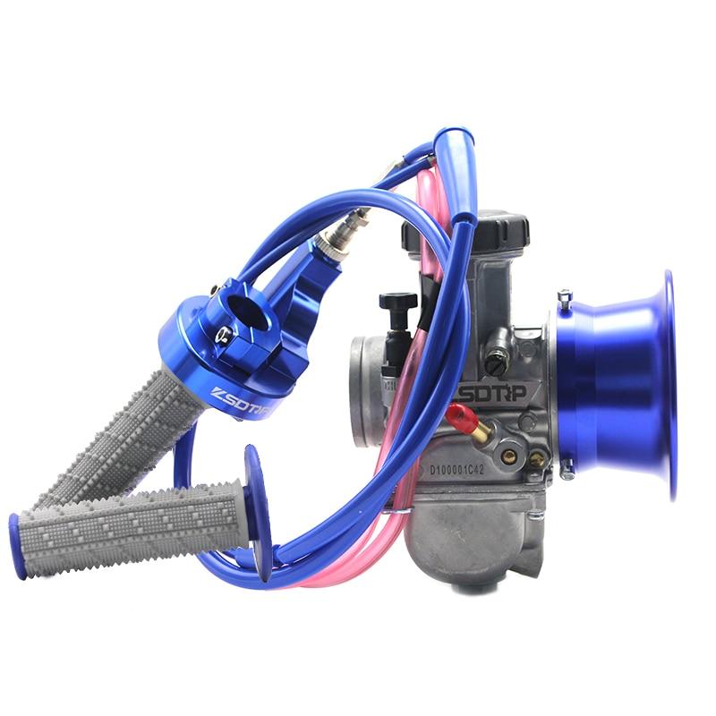 PWK 34 36 38 40 42mm Carburetor+Air Filter Cup+Handle Grip+Throttle Grip+Engine Link For ATV UTV Racing Off road Wholesale