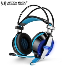 EACH GS700 3.5mm Gaming Headset LED Light Game Headphone Headband with Mic Stereo Bass Earphone for Computer Laptop Mobile Phone