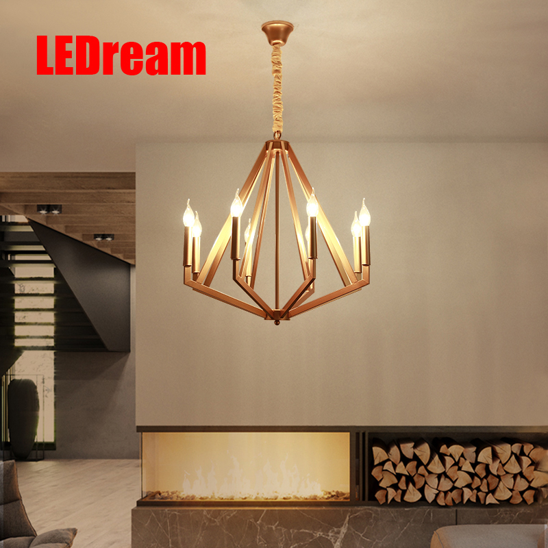 The Nordic art restaurant droplight American, wrought iron sitting room lamp bedroom villa, creative personality bar sca103t d04 sca103t smd12 original authentic and new in stock free shipping 2pcs