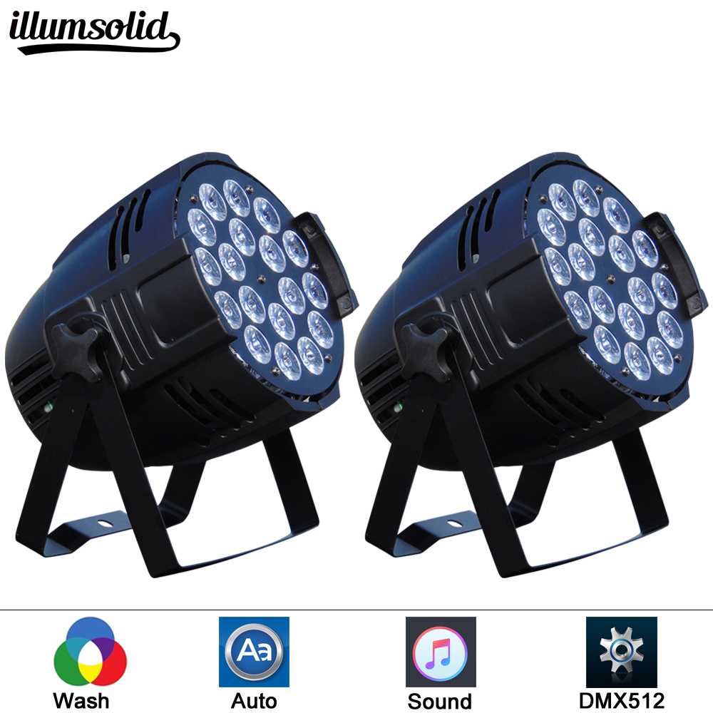 2pcs/lot LED Wash Moving Head Light RGBW 18x12W Perfect for Mobile DJ Party nightclub|Stage Lighting Effect| |  - title=