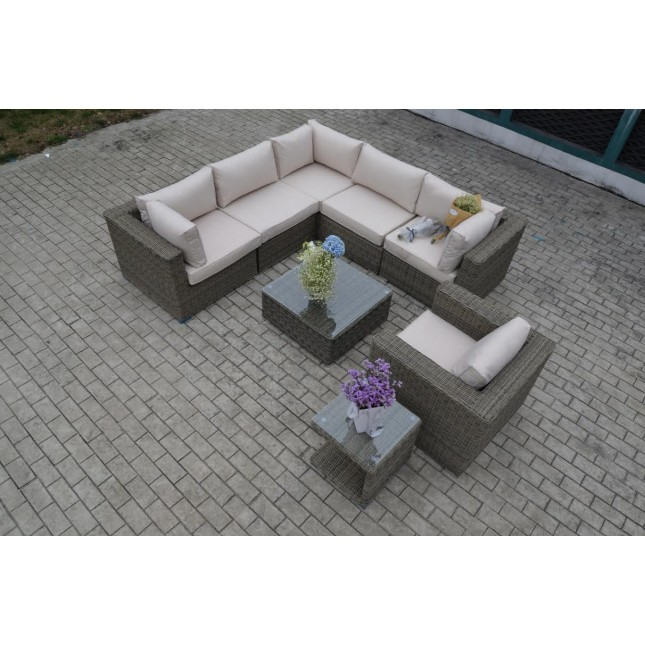 Trade Assurance Sgs High Quality Unique Sectional Synthetic Rattan