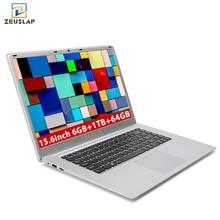 ZEUSLAP 15.6 inch 6G RAM 1TB HDD 64GB eMMC Intel Quad Core WIFI bluetooth Windows 10 System Notebook PC computer laptop