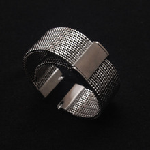 Bracelets de montre de haute qualité, 18mm 20mm 21mm 22mm, en acier inoxydable, noir argent, montre en maille, marques adaptées