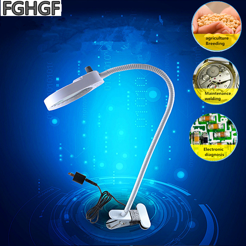 FGHGF PD 5S Clip Magnifier 3X 10X Times With LED Lamp European Minimalist Style Learning Read Manicure Magnifier Micro carving in Magnifiers from Tools