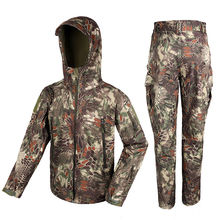 New Arrival 100D Waterproof Stretch Fabric Outerlining Tactical Military Outdoor BDU Set For Hunting Sports PP34-0066