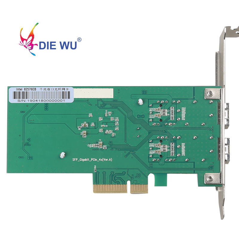 Image 2 - DIEWU 2 Port SFP network card 1G fiber optic network Adapter PCIe