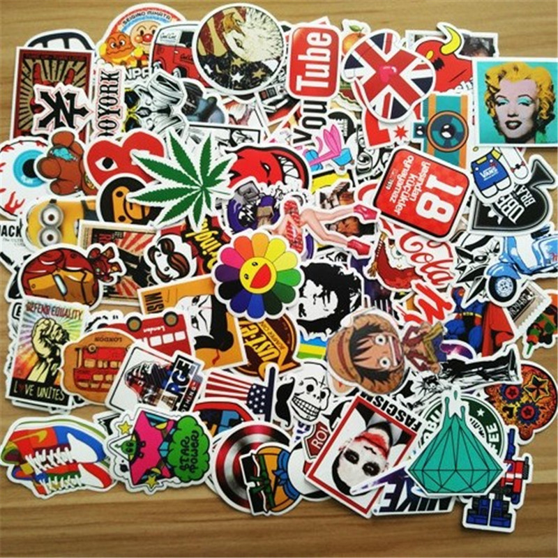 200Pcs Random Stickers for Notebook Scrapboking Stiker for Children Car-Styling Kids Stickers Sheets Toy For Laptop Suitcase