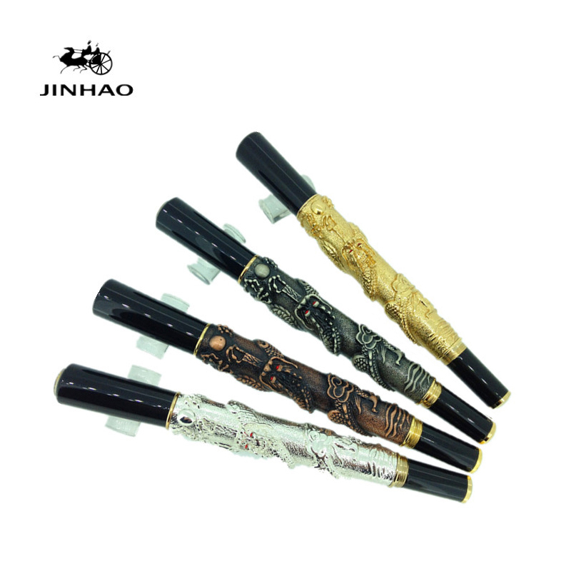 Jinhao Chinese Dragon Antique Fountain Pen Free Shipping jinhao jh 029 acrylic fountain pen translucent light blue