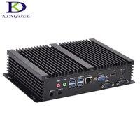 Безвентиляторный мини ПК с 2 * COM Intel Core i7 4500U поддержка промышленный компьютер win7/8/10 i5 4200U mini pc плюс HDMI VGA 2 * Оперативная Память Солт