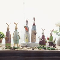 Hand Rabbit Bunny Resin Figurine Gift For Friend Home Decor Micro Landscape Fairy Garden