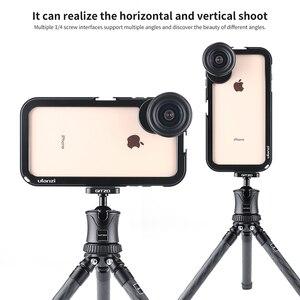 Image 4 - Ulanzi funda de Metal Vlog actualizada para iPhone Xs Max, estuche magnético para vapeo con soporte de rosca de 17MM