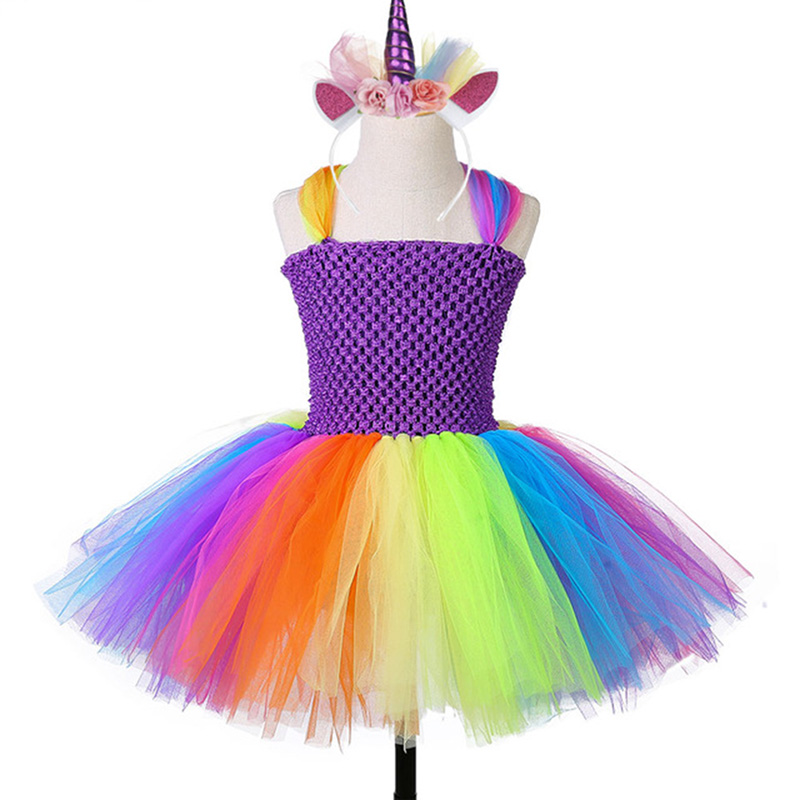 Dresses, Little, With, Party, Kids, Halloween