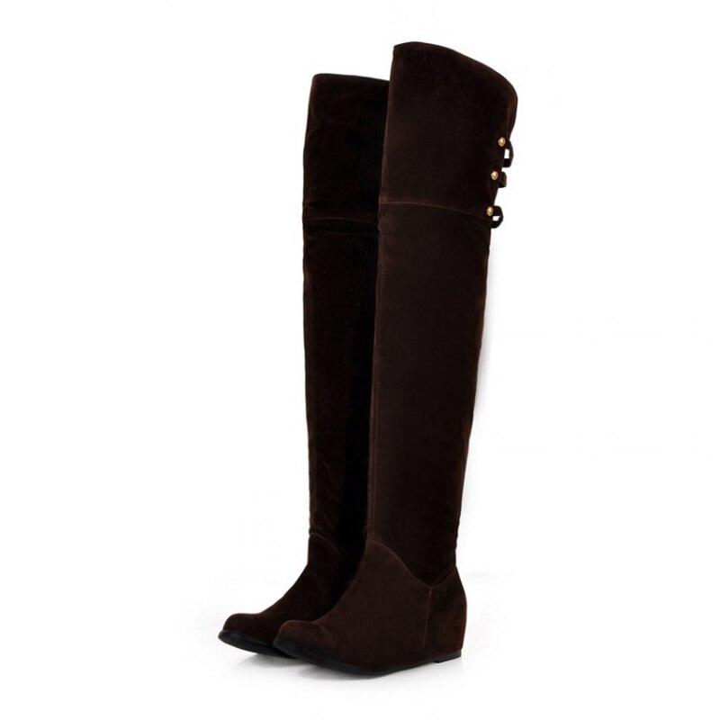 Long Black Flat Boots Promotion-Shop for Promotional Long Black ...