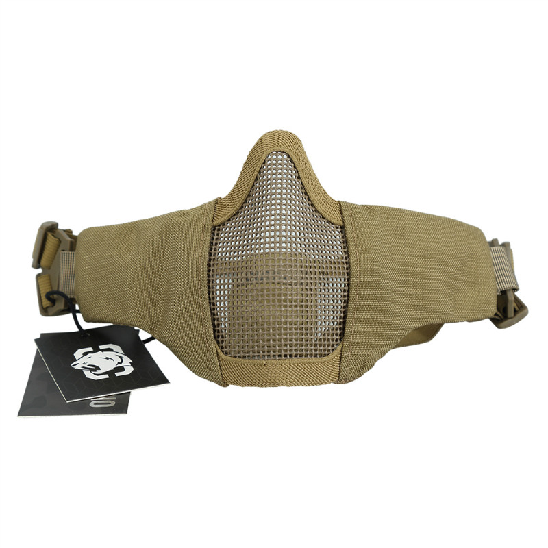OneTigris Half Face Mesh Mask Foldable Military Style Adjustable Tactical Multicam Face Protective Mask For Airsoft