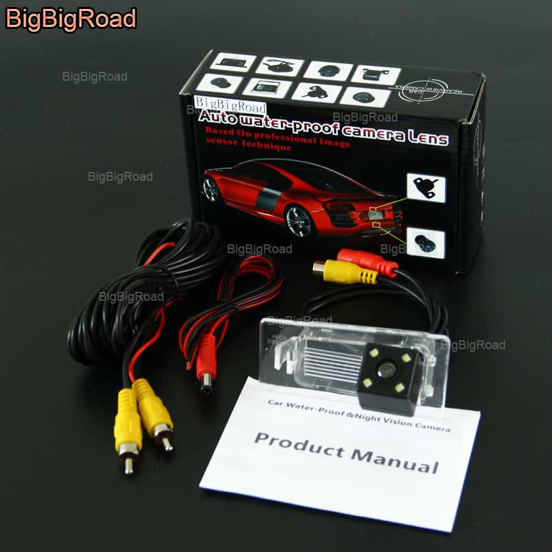 BigBigRoad Car Intelligent Dynamic Track Rear View Camera For KIA KX3 / Hyundai Solaris Sedan HCR 2017 / Elantra Avante MD UD AD ветровики korea hyundai elantra 2013 avante md 2013