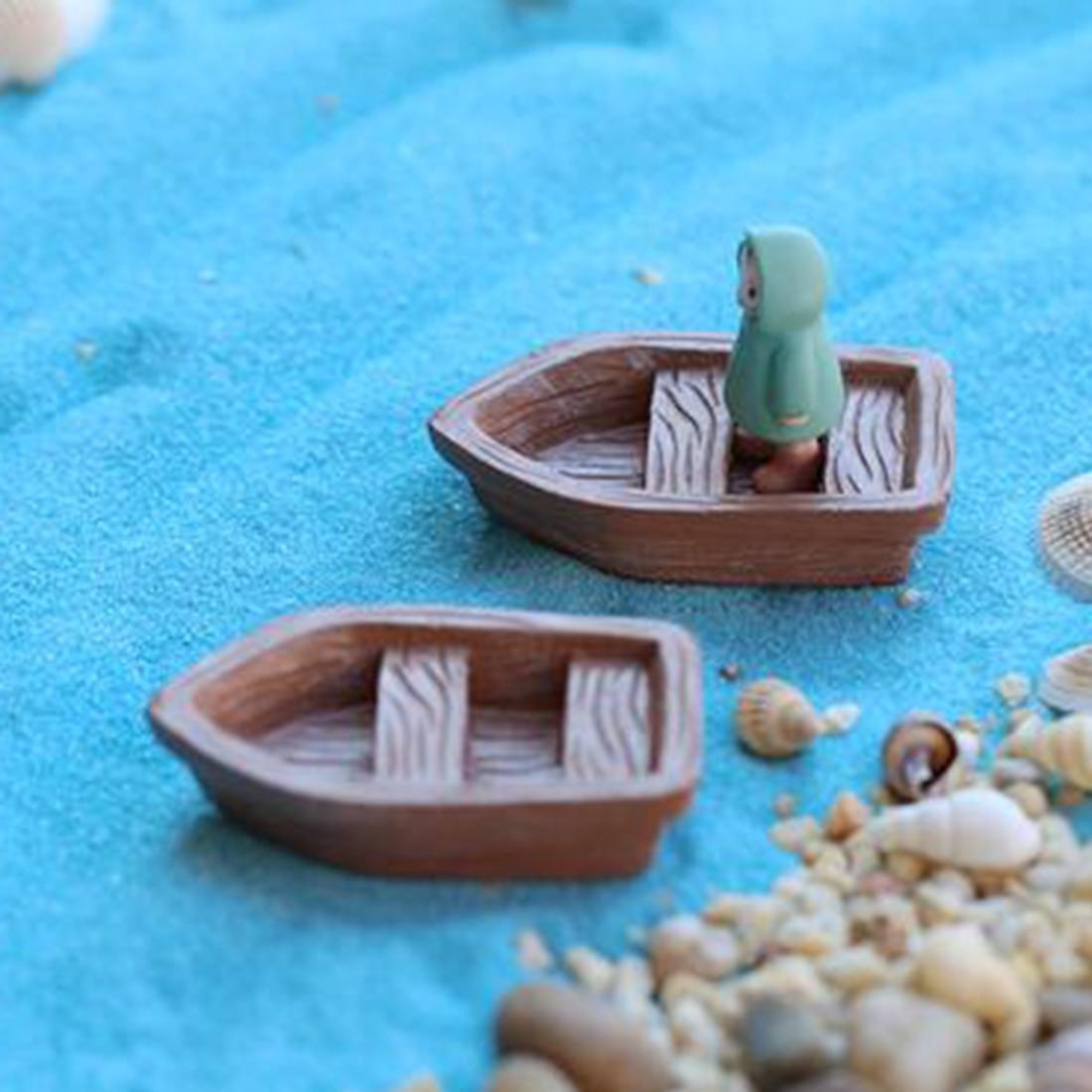 Aliexpress Com Buy Hot Selling Cute Resin Boat Craft Diy Micro