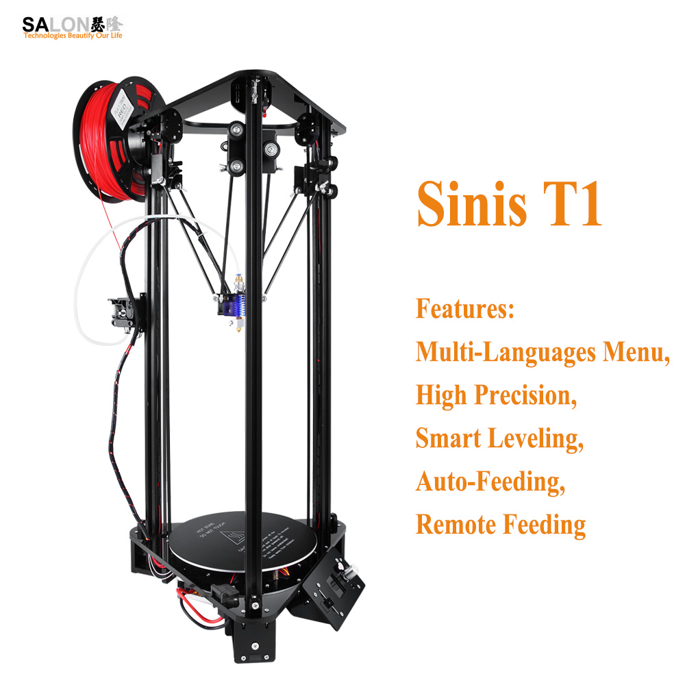 Sinis T1 Optional 1000mw Laser Engraver 3d Printer Auto Feeding Smart Leveling Support 24 Bits BMP