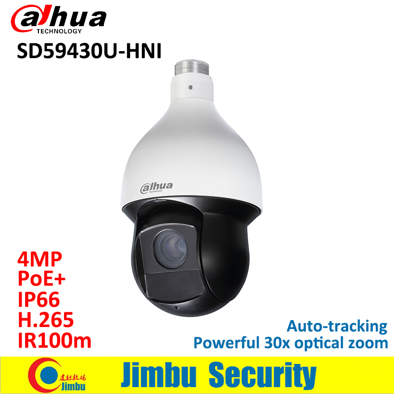 Dahua IVS 4MP IP Camera SD59430U-HNI 30x IR PTZ 30x optical zoom H.265 Auto-tracking cctv camera PoE+ IR100m IP66 dahua 4mp ptz camera sd59430u hni h 265 30x optical zoom 4 5mm 135mm lens auto tracking and ivs support poe ir100m ip66 wdr