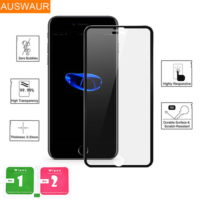 online store 99e55 be99f US $1.35 23% OFF|Aluminum alloy 3D Tempered Glass For iphone 8 8 Plus Full  Screen Protector For Apple iphone 7 7 plus Protective Guard Film Glass-in  ...