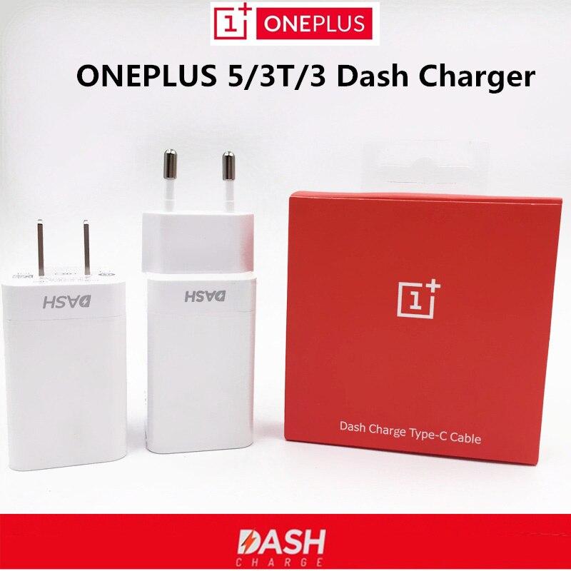imágenes para Cargador de carga Para Oneplus Oneplus Original Dash 5/3 T/3 teléfono móvil 5 V/4A Uno más Tres de cinco USB adaptador de Pared y Dash cable