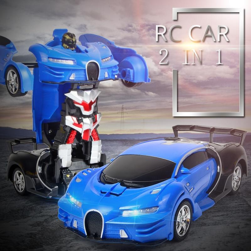 Beste Kopen Elektrische Rc Auto 2in1 Transformatie Robots Sport