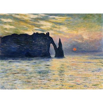 Landscapes Art  for Living room Claude Monet oil Paintings Seascapes Etretat sunset Hand painted High quality