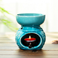 Aromatherapy Candle Lamp Oil Lamp Aroma Burner Thai Ceramics Hotel Large Capacity Oil Burner with Candle Holder