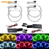 FEELDO 4 Pz/set 4X Auto CCFL Angel Eyes Luce Halo Anelli Kit Per BMW E46 E36 E38 E39 Faro Colori # AM4170
