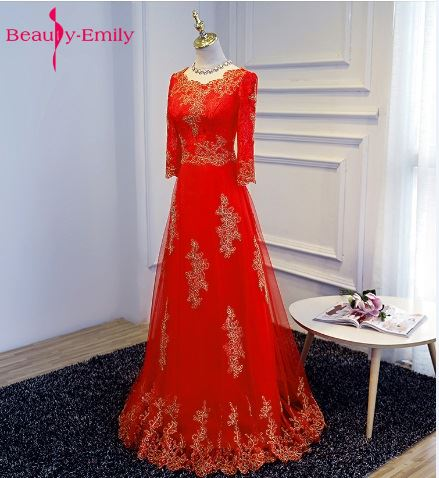 Beauty-Emily A-Line Red Bridesmaid Dresses 2018 Homecoming Dresses Boat Neck Appliques Plus Size Prom Party Dresses