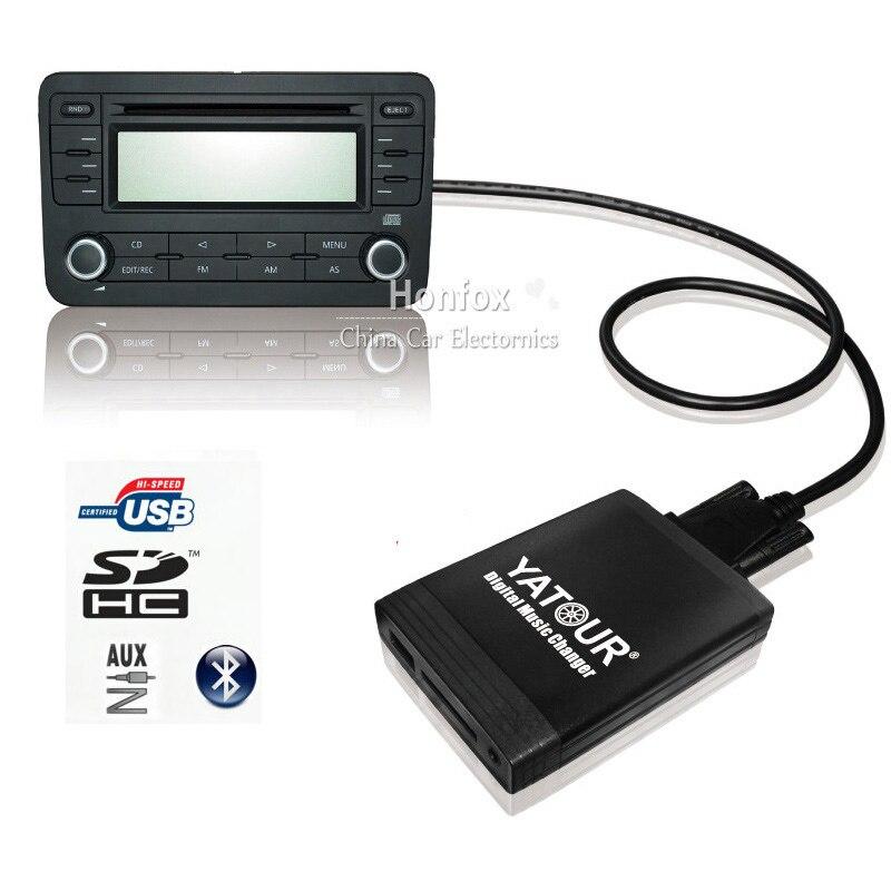 Yatour For Audi A2 A3 A4 S4 A6 S6 A8 S8 Allroad TT ISO 8-Pin 1999-2005 YT-M06 Car USB MP3 SD AUX Digital CD Changer