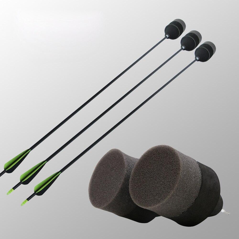 Sponge Safety Arrows For CS Game Fiberglass Shaft Exchangeable Arrowheads Broadhead Tag Funny Shooting Hunting Archery