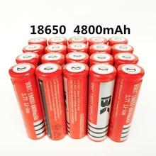 1-20pcs18650 Bateria recarregável bateria de lítio 4800 mAh 3.7 V bateria Li-ion para Tocha lanterna 18650 Baterias GTL EvreFire
