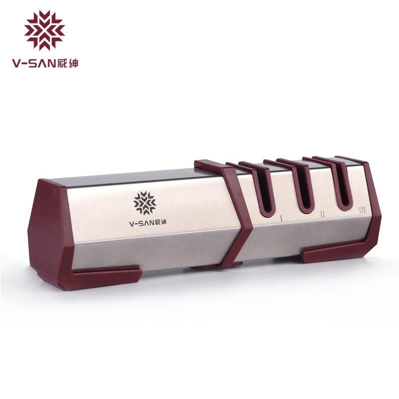 TAIDEA 3 fokozatú professzionális konyhai kés-hegyező gyémánt- - Konyha, étkező és bár