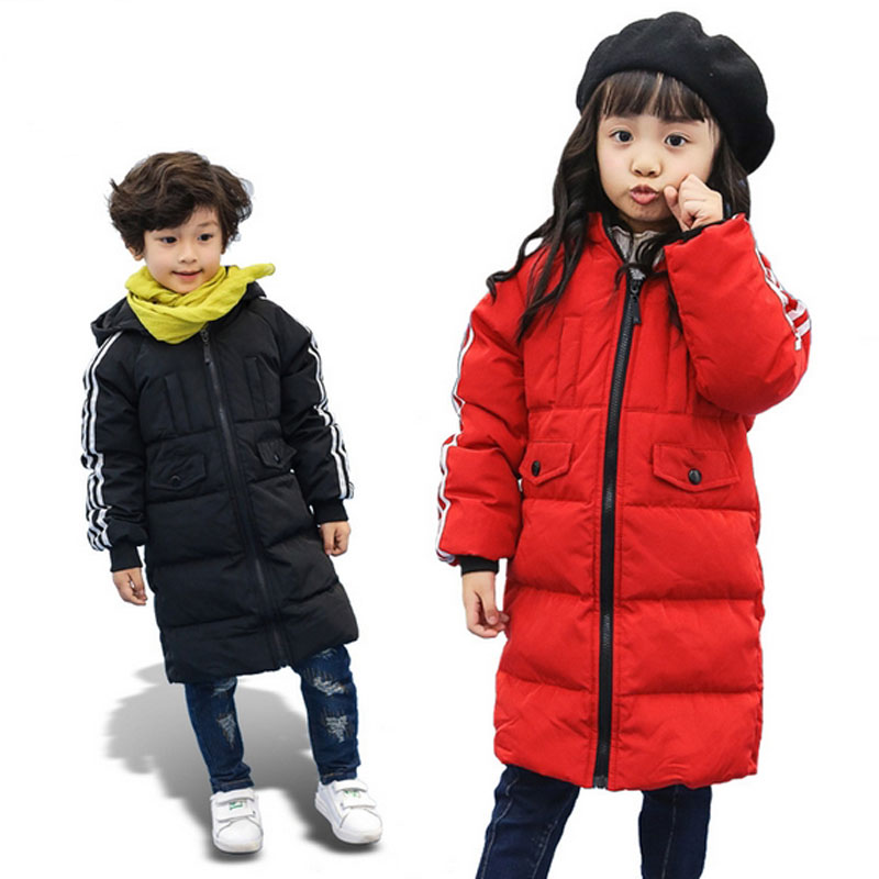 Winter Jacket For Girls Boys Kids Clothes Children Warm Coats Thick Down Long Jackets Girls Snowsuits Kid Clothing Outerwear winter down jacket for boys girls kids clothes children thicken warm coats duck down jackets girl fur parka hooded snowsuits