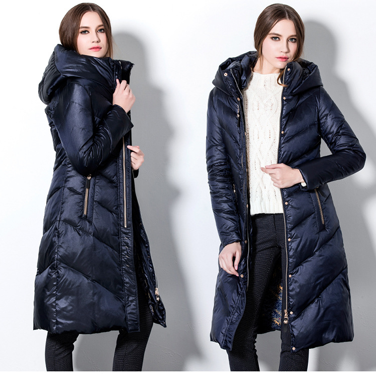 2017 winter and autumn womens down coat jackets for women warm X-long